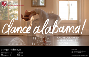 a poster for dance alabama