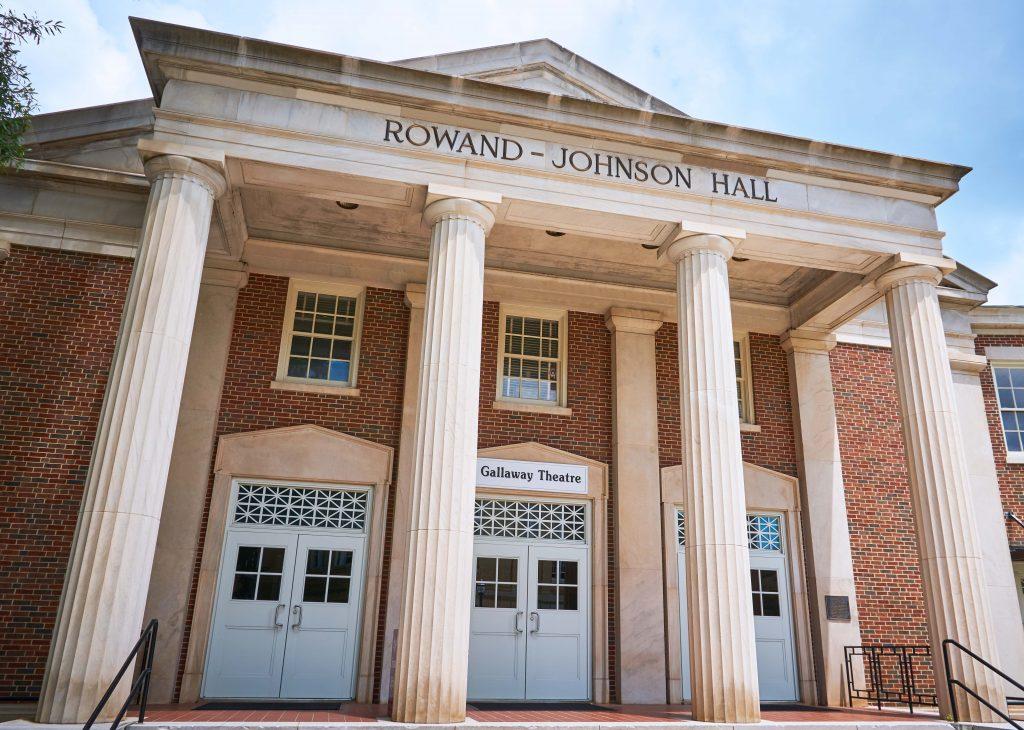 the front of Rowand Johnson Hall
