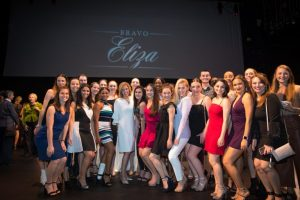 Eliza Culverhouse poses with dance students